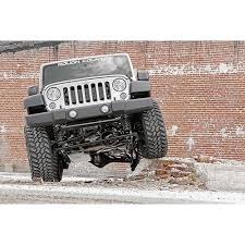 jeep lifted 2 door rough country 681s wrangler jk suspension lift kit 4