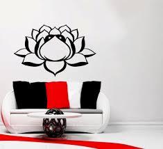 Wall Decals Vinyl Sticker Mandala by Wall Decals Lotus Flower Om Sign Mandala Ornament Indian Geometric