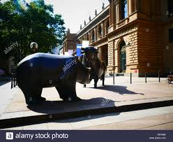 bull and bear stock exchange financial city frankfurt am main