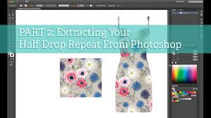 create pattern tile photoshop tutorial part 2 extracting a half drop repeat from photoshop