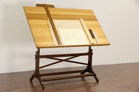 Artist Drafting Tables Sold Artist Easel Drafting Table Or Desk 1940 U0027s Adjustable Oak