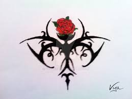rose tribal tattoo design by vyamester on deviantart