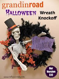Halloween Wreath Diy Crafty In Crosby Grandinroad Halloween Wreath Knock Off