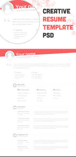 Creative Resumes Templates Free The 25 Best Free Creative Resume Templates Ideas On
