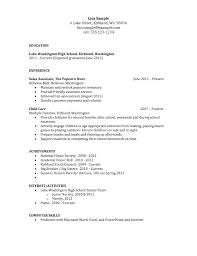 Sample Resume For Teenagers First Job by Charming Resume Example For High Student With No Experience