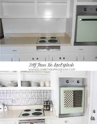 Kitchen Design Raleigh Nc Inexpensive Faux Tin Backsplash U2014 Elizabeth Burns Design Raleigh