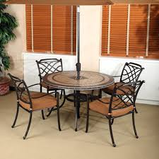 5 patio set tile top patio table set 5 willowbrook aluminum