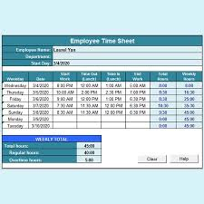 Excel Work Timesheet Template 11 Timesheet Calculator Templates Free For Excel