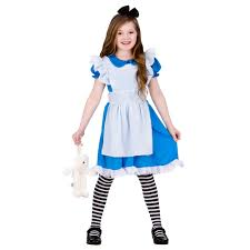 stroybook alice costume girls fairytale book week fancy dress
