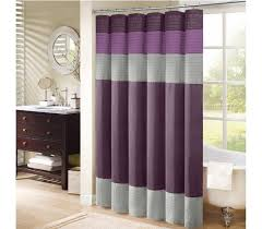 purple and grey shower curtain for bathroom best curtains design