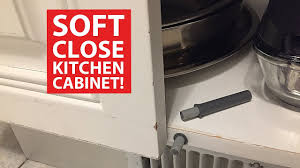 Soft Closing Kitchen Cabinet Hinges by Soft Close Kitchen Cabinet Doors Diy Retrofit Youtube