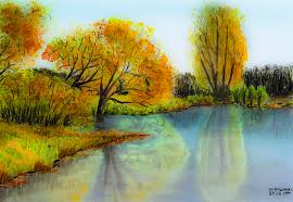 autumn colours painting by svetlana sewell