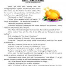more turkey reading comprehension worksheet