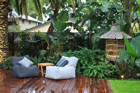 tropical garden ideas landscape asian with garden sculptures lush