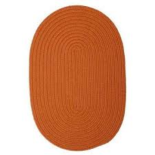 6 X 9 Oval Area Rugs Oval Orange Solid Gradient Area Rugs Rugs The Home Depot