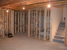 framing basement wall parallel joists