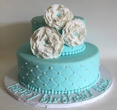 tiffany blue quilted birthday cake bolos decorados com bico e