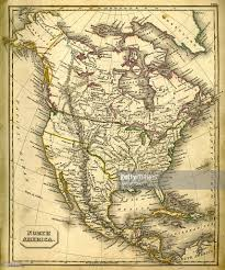 Map Of North America Map by Antquie Map Of North America Stock Illustration Getty Images