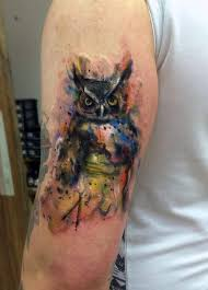 watercolor owl tattoo by craig watts laricher23 u0027s blog