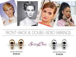 earrings trends front back earrings trend the sassychic fashion with