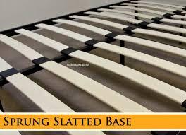 Slatted Bed Frames City Block Modern White Metal Bed Frame 4ft6
