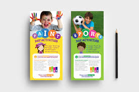 play school brochure templates after school care dl rack card template in psd ai vector