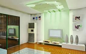 simple home family room decor combining modern small tv screen on
