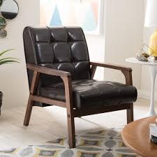 baxton studio mid century masterpieces sofa in brown free
