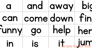 words cards pre primer sight word mini flash cards simple for kids
