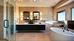 combination of modern and vintage style in floating bathroom