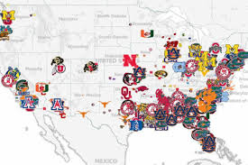Map Of Pennsylvania Colleges by How Local Recruiting Dictates Scheme Mapping College Football U0027s