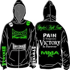 stryker new hoodie sweatshirt jacket t mma ufc mens fighter size