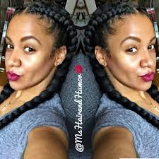 keeping it sweet and simple with two cornrow goddess braids