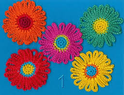 Crochet Designs Flowers 1671 Best Crocheted Flower Images On Pinterest Crocheted Flowers
