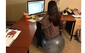 Sitting On A Medicine Ball At Desk New Sitting Exercise Balls Blog Bosu