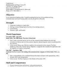sle resume for a bank teller sle banking template sle