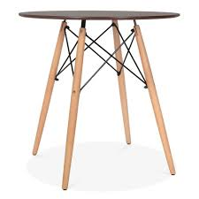 Esszimmertisch Dunkles Holz Nussbaum Eames Dsw Style 70cm Nussbaum Runder Tisch Runde