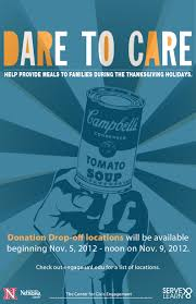 donate food for thanksgiving last day to donate food to dare to care announce university of
