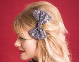 sparkly hair glitter hair bow etsy