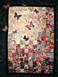 quilt garden window watercolor colorwash fabric wall hanging