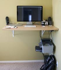 Wooden Desk With Shelves Desk Stupendous Home Office Ideassimple Wall Mounted Wooden Desk
