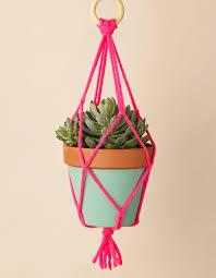 Simple Macrame Plant Hanger - how to make a macrame plant hanger mollie makes