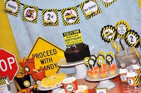 truck birthday party construction birthday centerpiece sticks construction birthday