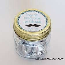 Mason Jar Baby Shower Ideas Little Man Baby Shower Favors Free Printable Artsy Mama Bear