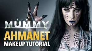 the mummy ahmanet makeup tutorial youtube