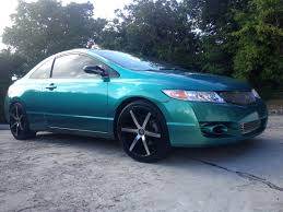 gold color cars blue green flip carribean gold honda civic pearls and pigment