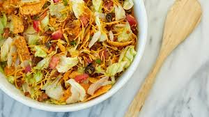 crunchy potluck taco salad recipe bettycrocker com