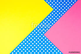 yellow with pink polka dots abstract geometric yellow pink and blue polka dot paper background