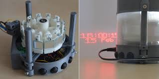 swiss engineer 3d prints an incredible laser projection clock