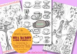 tea party colouring and creativity book the butterfly collector
